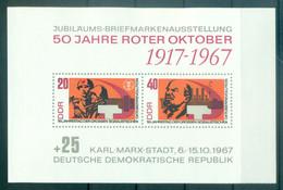 Allemagne - RDA 1967 - Y & T Feuillet N. 21 - Exposition Philatélique De Karl-Marx-Stadt (Michel Feuillet N. 26) - Blocks & Kleinbögen