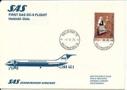 Finland First SAS DC-9 Flight Helsinki - Oslo 1-11-1975 - Briefe U. Dokumente