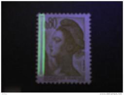 France, 2241a, Barre Phosphorescente à Gauche, Neuf **, TTB, Liberté De Gandon - 1982-90 Liberté De Gandon
