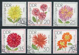 RDA- Exposition Des Dahlias YT 2100-2105 Obl./ DDR- Gartenbauausstellung Mi.Nr. 2435-2440 Gest. - Gebraucht