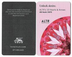 The Venetian Casino & Hotel, Las Vegas, Used Contactless Hotel Room Key Card, # Venet-125 - Hotel Keycards