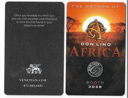 The Venetian Casino & Hotel, Las Vegas, Used Contactless Hotel Room Key Card, # Venet-126 - Hotel Keycards