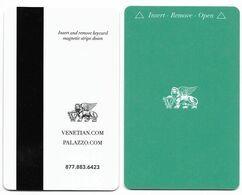 The Venetian Casino & Hotel, Las Vegas, Used Magnetic Hotel Room Key Card, # Venet-122 - Hotel Keycards