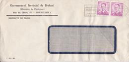 GOUVERNEMENT PROVINCIAL DU BRABANT, MINISTERE. BELGIQUE ENVELOPPE COMMERCIAL. CIRCULEE 1960. BRUXELLES.- LILHU - Briefe U. Dokumente