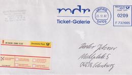 Absenderfreistempel - Leipzig, MDR Ticketgalerie (R-Brief), 2002 - Briefe U. Dokumente