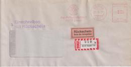 Absenderfreistempel - Essen, Der Polizeipräsident (R-Brief Mit Rückschein), 1994 - Briefe U. Dokumente