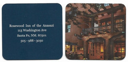 Rosewood Inn Of The Anasazi, Santa Fe, U.S.A., Unsued Contactless Hotel Room Key Card, # Rosewood-48  NEW SQUARE DESIGN - Hotel Keycards