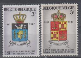 BELGIUM 1967 COAT OF ARMS GENT LIEGE - Ungebraucht