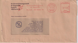 Absenderfreistempel - Berlin, Bundesvericherungsanstalt Für Angestellte BfA, 1991 - Briefe U. Dokumente