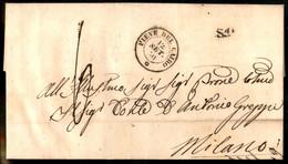 Italia - Prefilateliche - 1850 Lettera Con D.c. Pieve Del Cairo 12 Set. 50 + Bollo S1 Per Milano - Segno Di Tassa 6 Rela - Non Classés
