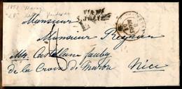 Italia - Prefilateliche - Lettera Da Vevey 5 Mars 51 Per Nizza Con Bollo Via Di S.Julien E L.V. - Segno Di Tassa 8 - Non Classés