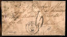 Italia - Prefilateliche - Lettera Non Bella Da Donas 9 Lug. 1862 Per Algeri - Destinazione Non Comune - Non Classés