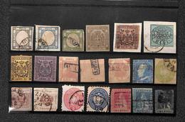 Lotti&Collezioni - Antichi Stati Italiani - ANTICHI STATI - 1850/1861 - Lotto Di 55 Valori Nuovi E Usati Montati Su Tre  - Non Classés