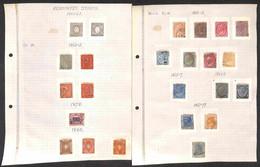 Lotti&Collezioni - Regno - REGNO - 1861/1917 - Insieme Di Valori Nuovi E Usati Montati Su 15 Fogli Artigianali - Da Esam - Non Classés