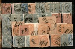 Lotti&Collezioni - Regno - 1863/1867 - PD - 38 Valori De La Rue/Torino Usati (7 Su Frammento) - Interessante Insieme - M - Non Classés