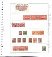 Lotti&Collezioni - NULL - OCCUPAZIONI/LOCALI - 1918/1945 - Serie Complete E Spezzature Su 4 Fogli Marini A Listelli - Da - Non Classés