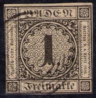 Fünfring Auf 1 Kreuzer Sämisch - Baden Nr. 1 - Baden