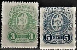 Fiscaux/ Revenue - Ley De Selos, Provincia De Salta / NovoS MNH** - Service