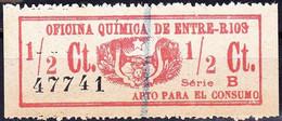 Fiscaux/ Revenue - Oficina Química De Entre-Rios / Serie B - Entre Ríos