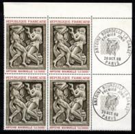 FRANCE 1968 - BLOC DE 4 TP Y.T. N° 1569 COIN DE FEUILLE  - NEUFS** - Ungebraucht