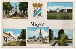 CPSM 72 Mayet Plusieurs Vues Des Monuments De La Ville - Mayet
