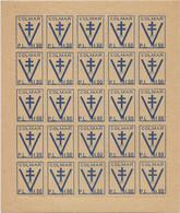 France Libération Colmar France Libre 1F50, Feuille Complète De 25 N** MNH - Guerres