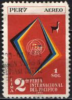 PERU' - 1962 - 2^ FIERA INTERNAZIONALE DEL PACIFICO - USATO - Pérou