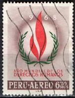 PERU' - 1968 - ANNO MONDIALE DEI DIRITTI UNIVERSALI DELL'UOMO - USATO - Pérou
