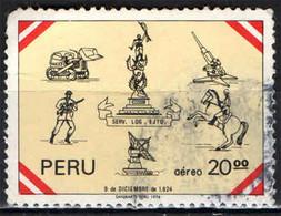 PERU' - 1977 - MONUMENTO ALLA LIBERAZIONE DEL PERU' - GIORNATA DELLE FORZE ARMATE - USATO - Pérou