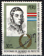 PERU' - 1978 - DON JOSE DE SAN MARTIN - EROE NAZIONALE - USATO - Pérou