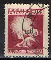 PERU' - 1950 - FIGURA ALLEGORICA DELL'EDUCAZIONE - USATO - Pérou
