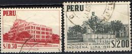 PERU' - 1957 - MINISTERO DELLA SALUTE PUBBLICA E MONUMENTO ALL'AGRICOLTURA INDIGENA - USATI - Pérou