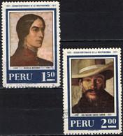 PERU' - 1971 - ANNIVERSARIO DELL'INDIPENDENZA: MACAELA BASTIDAS E JOSE FAUSTINO SANCHEZ CARRION - USATI - Pérou