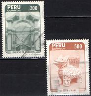 PERU' - 1985 - ENTRATA DEL PALAZZO DELLE POSTE E CULTURA WARI - USATI - Pérou