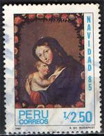 PERU' - 1985 - NATALE - MADONNA CON BAMBINO - USATO - Pérou