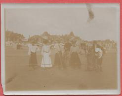 44    LA  BAULE    PHOTO   ANCIENNE  ALBUMINE  1903  LA  PARTIE  DE  CROQUET - Lugares