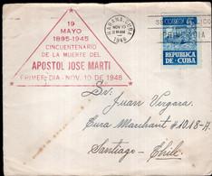 Cuba - 1948 - Lettre - FDC - Envoyé En Argentina - Covers & Documents