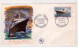 FRANCE - Paquebot France Premier Jour Le Havre - 11-01-1962 - 1960-1969