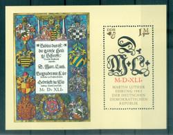 Allemagne - RDA 1983 - Y & T Feuillet N. 71 - Martin Luther (Michel Feuillet N. 73) - Blocks & Kleinbögen