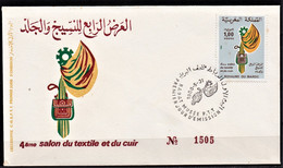 MAROC 1980 FDC Enveloppe Oblitération 1er JOUR Y&T N° 852 - Marokko (1956-...)