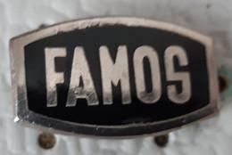 FAMOS  Camion Tovornjak Truck Transportation Yugoslavia Enamel Pin - Non Classificati