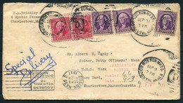 1937 USA Boston Special Delivery Cover - H.M.S. York, Charlestown - Covers & Documents
