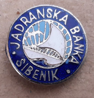 Jadranska Banka Sibenik Bank Croatia Ex Yugoslavia Enamel Pin - Banks