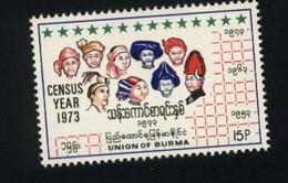 BURMA/MYANMAR STAMP 1973 ISSUED NATIONWIDE CENSUS ,MNH - Myanmar (Birmanie 1948-...)