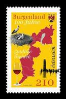 Austria 2021 Mih. 3611 Burgenland State. Fauna. Birds. Storks. Lake Neusiedl Lighthouse. Wine MNH ** - 2011-2020 Unused Stamps