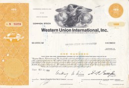 Shares:    Western Union International Inc - 100 Shares From 1968   (LAR7-24) - Sin Clasificación