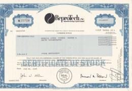 Shares: ReproTech Inc - 1000 Shares From 1989   (LAR7-20) - Otros