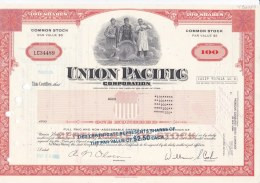 Shares: Union Pacific Corporation - 100 Shares From 1980   (LAR7-20) - Otros