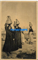 172704 AFRICA EGYPT COSTUMES PEASASNTS CARRYING WATER JARS FROM THE NILE POSTAL POSTCARD - Non Classés