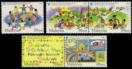 (416) Malaysia / Malaisie  Children / Enfants / Kinder  ** / Mnh  Michel 1224-28 - Malaysia (1964-...)